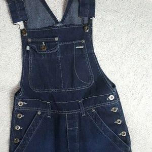 Vintage 90s Silver jeans denim overalls jumpsuit
